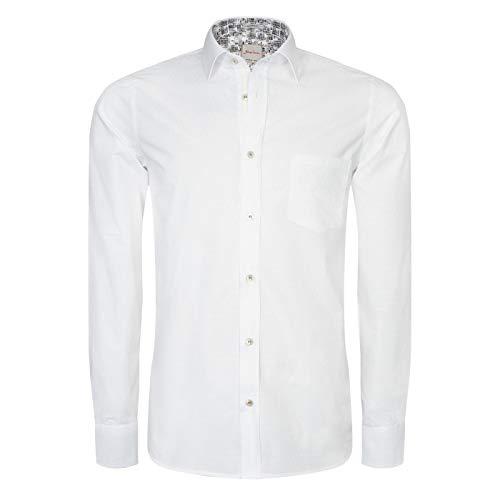 Signum Hemd - Weißes ICON Hemd mit aufwendigen Details Herrenhemd - Optical White