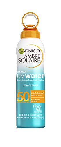 Garnier Ambre Solaire - UV Water - Brume Invisible Protection & Fraîcheur FPS 50 - 200 ml - Lot de 3