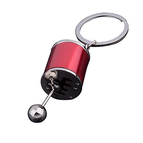 Gszpxf con Llavero Creativo del Coche de Caja de Cambios de 6 velocidades del Cambio de Engranaje de Carreras Modelo Llavero de sintonización (Color : Red)