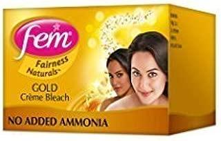2 FEM Herbal Gold Cream Bleach Wt Real Gold Golden Glow Natural Fairness 26g X 2 by Fem
