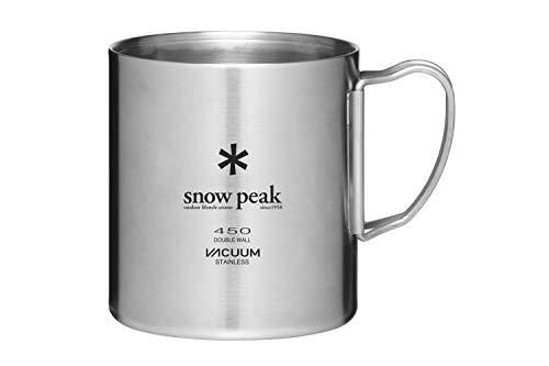 SNOW PEAK Stainless Steel Vacuum Double Wall 450 Mug for Camping, Backpacking, Trekking