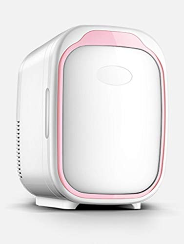 Zlinin Frigorífico para el coche, minifrigorífico y calentador, portátil, compacto, 100 % libre de freones, respetuoso con el medio ambiente, para oficina y coche (color rosa Car Fridge)