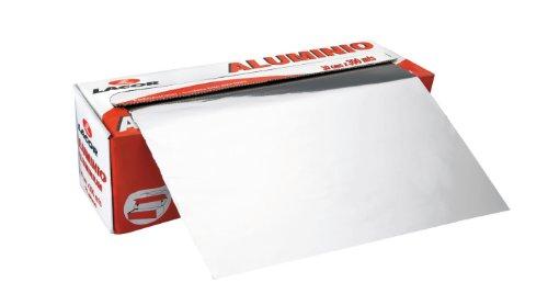 Lacor 10430 - Rotolo foglio di alluminio spessore 11 micron, 0,40x300 m
