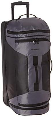 Samsonite Andante 2 Drop Bottom Wheeled Rolling Duffel Bag, Riverrock/Black, 28-Inch