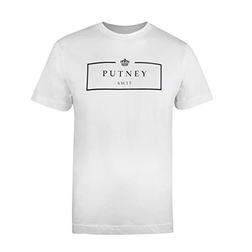 Putney Bridge SW15 Boxed Camiseta, Blanco Vintage, L para Hombre
