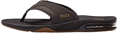 Reef Men's Fanning Flip Flop, BROWN/GUM, 10 D - Medium