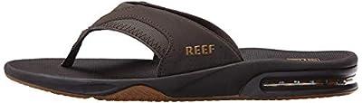 Reef Men's Fanning Flip Flop, BROWN/GUM, 11 D - Medium