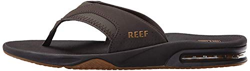 Reef Men's Fanning Flip Flop, BROWN/GUM, 9 D - Medium