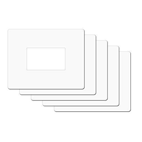 5 Salvaparete trasparente. Salva muro in plexiglass trasparente spessore 0,75mm dimensioni 20x16cm per placchette interruttori Pacco 5 pz