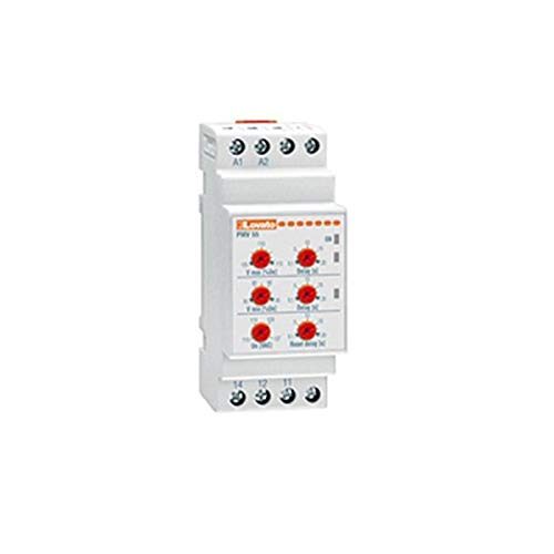 Lovato Electric PMV55A240 Inc - Voltage Monitoring Relay for Single-Phase System, Minimum and Maximum AC Voltage, 208-240Vac 50/60Hz