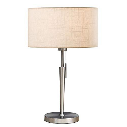 Moderne, métal, plastique Lampe de bureau, chambre, salon, chambre de travail, Lampe de Table Salle à Manger Interrupteur (Blanc)