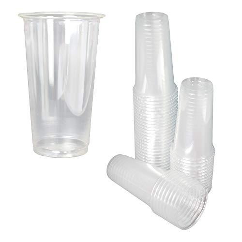 ILIP - 50 vasos ecológicos compuestos de 350 ml con talonera compostable