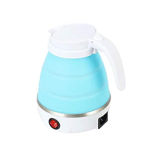 Bouilloire électrique Pliable De Voyage En Silicone De Qualité Alimentaire Mini Pot D'eau Chaude Bouillante,Blue