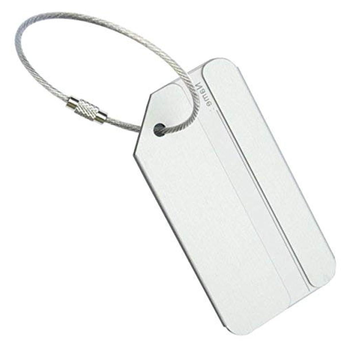 偉業メダリスト前にMilent 荷物タグ 旅行 金属IDタグ アルミネームカード 旅行荷物 手荷物 スーツケース IDタグ 1個入
