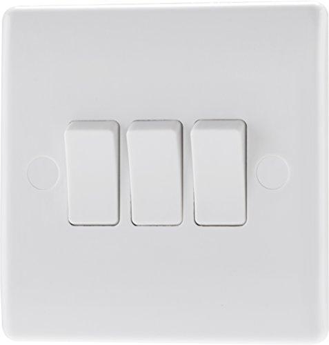 Nexus 843-01 - Triple interruptor de doble posición con base para pared
