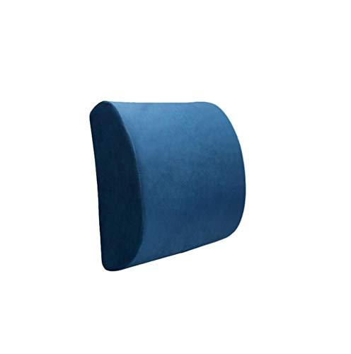 Ecloud Shop® Rückenkissen Memory Foam Lordosenstütze mit verstellbarem Gurt, lindern Rückenschmerzen Kissen Geeignet für Bürostuhl-Dunkelblau