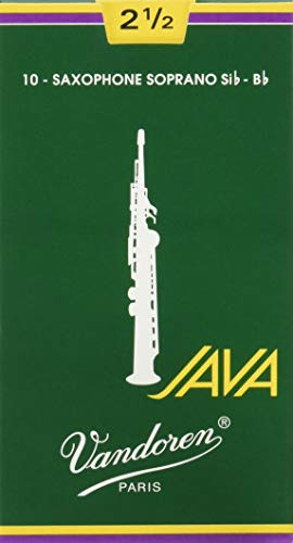 Vandoren SR3025 - Caja de 10 cañas java n.2.5 para saxofón