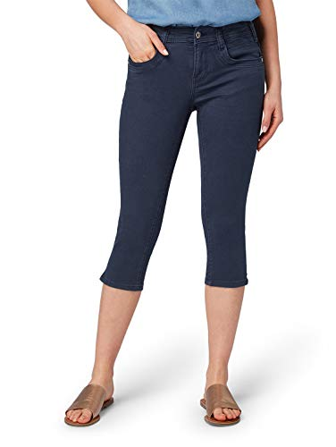 TOM TAILOR Damen Alexa Capri Slim Jeans, Blau (Sky Captain Blue 10668), 31W