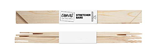 """Art Canvas Stretcher Bars Standard Stretching Strips 3/4"""" deep by Canvas on the Wall (2 Canvas Bars, 10 inch)"""