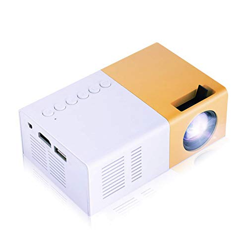 Mini Beamer, Tragbarer LED HD Projektor Unterstützung 1080P, LED 30.000 Stunden Manuelle Fokussierung Heimkino Projektor Multimedia Player für HDMI/AV/VGA/USB/TV-Box(EU)