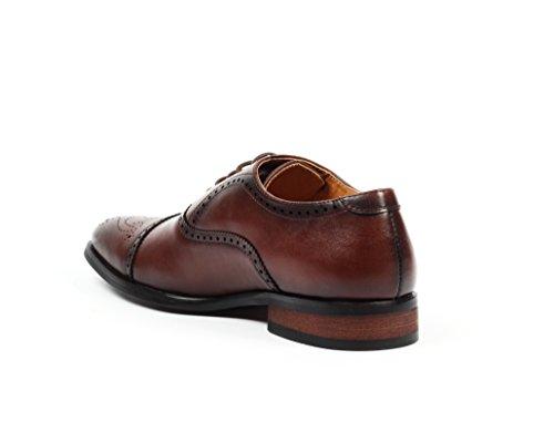 Santino Luciano Gino Men's Cap-Toe Brogue Dress Shoes