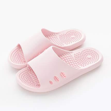 Massage en acupunctuur voet harde bodem sandalen en slippers vrouwelijke thuis interieur vloeren-zware bodem teen druk,Female pink,S