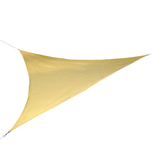 Jago - Vela parasole triangolare, colore: beige, tasso di protezione contro il sole: trattiene il 90% dei raggi UV, misura a scelta