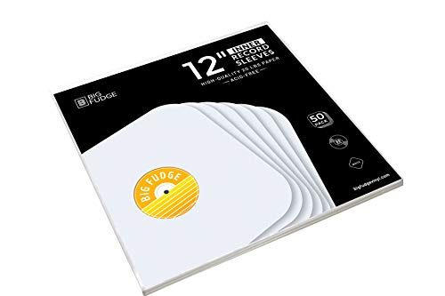 """Big Fudge Vinyl Record Inner Sleeves 50x 