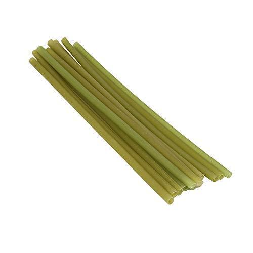 The Q Life 50er-Pack Essbare Strohhalme aus Reis & Tapioca, abbaubar, umweltfreundlich - nachhaltige Trinkhalme als Alternative zu Plastik, Bambus & Metall - ohne Zusätze (Grün)