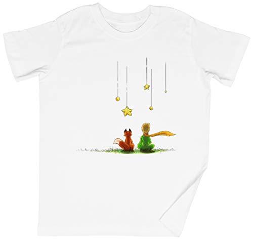 Le Petit Prinz Weißes Kinder Jungen Mädchen T-Shirt Unisex Größe L White Kid's Boys Girls Tee Size L