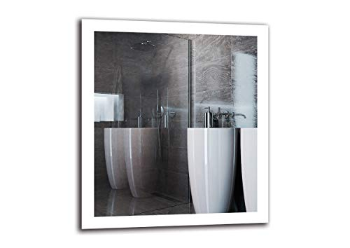 Espejo LED Premium - Dimensiones del Espejo 80x90 cm - Espejo de baño con iluminación LED - Espejo de Pared - Espejo de luz - Espejo con iluminación - ARTTOR M1ZP-50-80x90 - Blanco frío 6500K