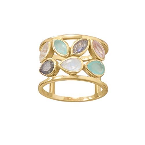 JewelryWeb Mujer 0.925 plata redonda Yellow Quartz