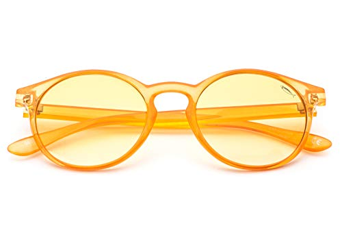 Saraghina Eyewear GILDA 389ORA | Occhiali da Sole UNISEX 100% Made in Italy | COLORE ARANCIONE | CRISTALLO LUCIDO | LENTE ARANCIO SFUMATO |