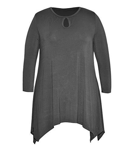 Ritera Tunika Damen Blumen Tops Langarm Rund Ausschnitt Plissiert Bluse T Shirt...