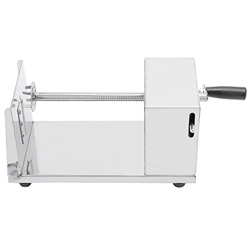 Pinpig Cortador de Patata, Cortador de Patata de Acero Inoxidable Manual Máquina de Corte en Espiral Accesorios de Cocina Herramientas de Cocina