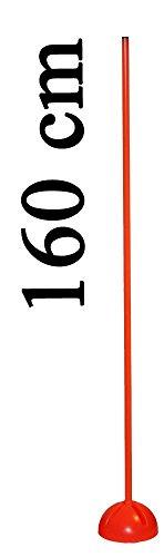 Boje Sport - Agility sport canin pour l'entraînement de la coordination, l'entraînement de l'endurance, le sprint de votre chien, le slalom - Support en X avec poteau 160 cm (2 x 80 cm avec prise), couleur: orange