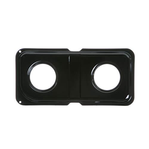 GE WB34K10010 Genuine OEM Porcelain Double Drip Pan (Black) for GE Gas Ranges