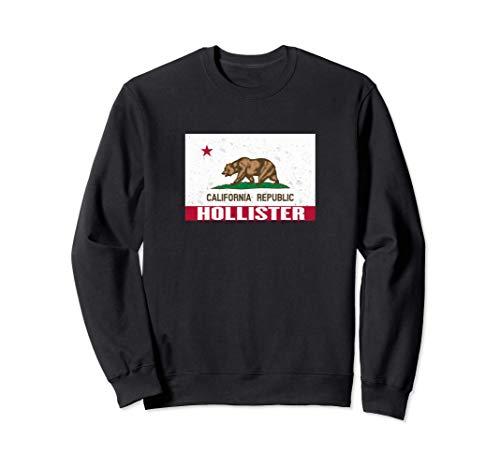 Hollister, California -Bandera de la República de CA apenada Sudadera