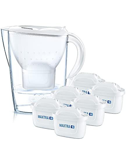 BRITA Wasserfilter Marella weiß inkl. 6 MAXTRA+ Filterkartuschen –...