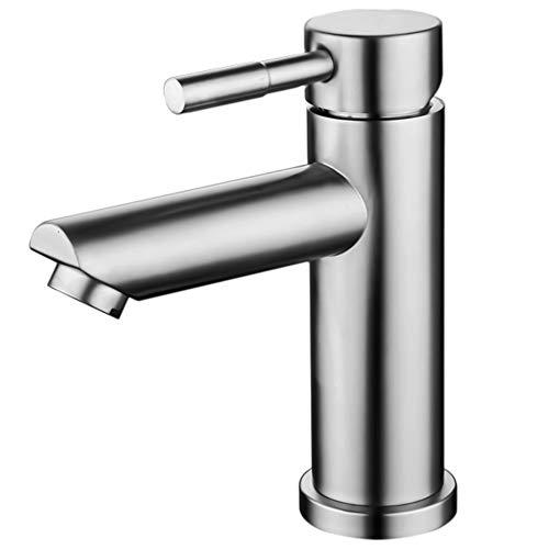munloo Grifo Baño, Grifo para Baño Caliente y Frío, Grifo para Lavabo para Baño, Mezclador Monomando para Lavabo (Ronda Plata)
