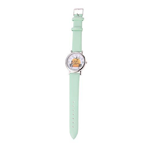 1PC Patrn de Calabaza de Halloween Reloj de Cuarzo Escala numrica Reloj de Pulsera de Regalo de Moda (Verde)-Disfraz de Halloween