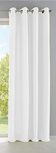 Vorhang Blickdicht Gardine Matt Lichtdurchlässig »Palermo« mit Ösen und Raffhalter Dekoschal HxB 145x140 cm Weiß, 10000265