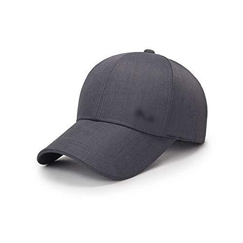 A/N Hat Smart-Hip-Hop-Baseball-Cap Cotton Schnell trocknend Hat Geeignet for Freizeit Outdoor Familienausflug Wandern Laufen mit veränderbarer Länge Fashion (Color : Gray)