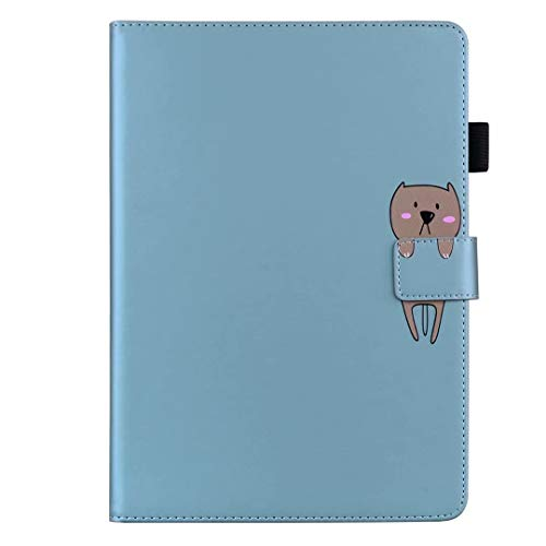 Tablet Case for iPad Pro 11 2020 & 2018 Case, Slim Fit PU Leather Folio Folding Stand Smart Cover with Auto Sleep Wake Card Slots Shockproof Pencil Holder Protective Shell blue