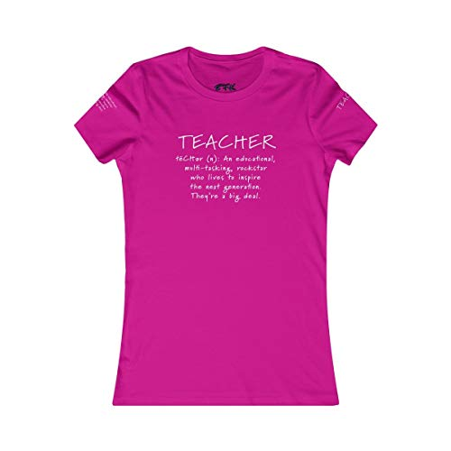 Teacher - an Educational, Multi-Tasking, Rockstar who Lives to Inspire The Next Generation. They're a Big Deal. (Berry, Small)