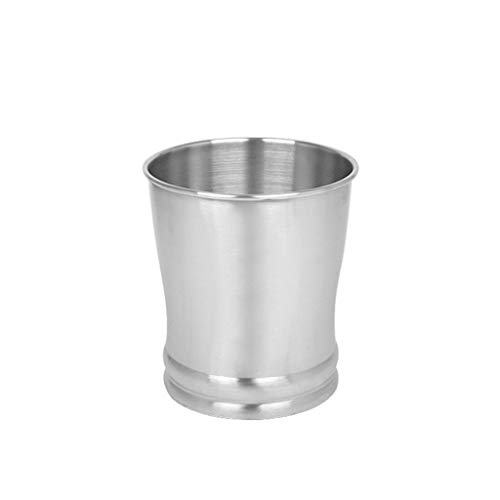 LOMJK Papeleras Cubo de Basura Redondo Basurero, Contenedor de Basura Duradero Acero Inoxidable Cepillado for baños Cocinas Contenedor de Basura 8L Cubos de Basura (tamaño : B)