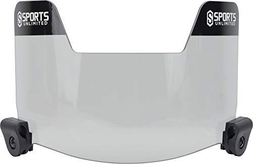 Sports Unlimited Universal Football Visor Eye Shield, Smoke - Fits All Adult & Youth Helmets