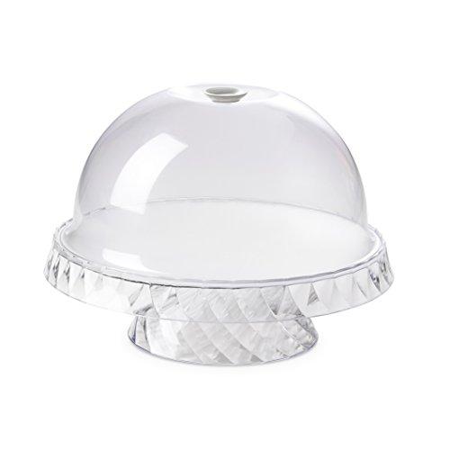 Omada Design Tortiera con Campana Salvafreschezza, Resistente alle Basse Temperature, Effetto Diamante, Made in Italy, Lavabile in Lavastoviglie, Linea Diamond, Colore Bianco