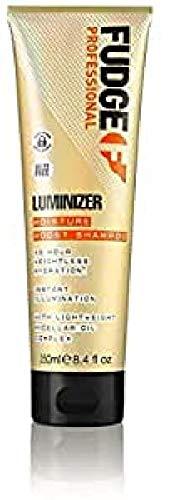 Fudge Professional Luminizer Shampooing Raffermissant et Lissant, Fixe la Couleur pour 30 Lavages, Ajoute une Brillance Instantanée, Complexe d'Huile Micellaire Légère, Hydratation 48 Heures, 250ml