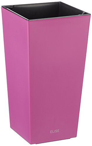 Plastkon Décoration Pot en de et Outdoor Pot Elise Mat Fuchsia/Rouge 25 cm
